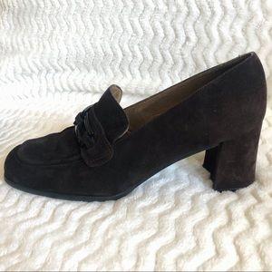 Stuart Weitzman Women's Suede Block Heel, Size 8.5
